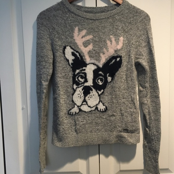 Abercrombie women's grey Christmas sweater S